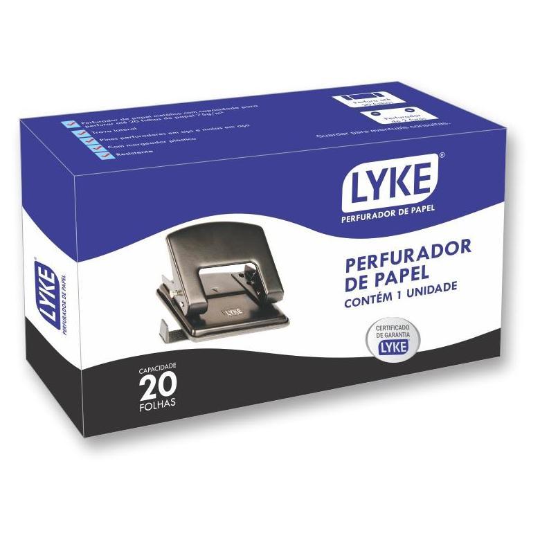 Perfurador de Papel 2 Furos para 20 Folhas Lyke LO101-032