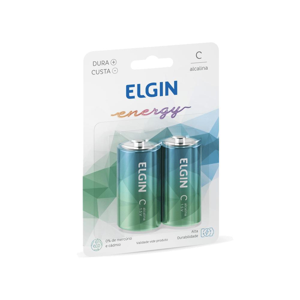 Pilha Alcalina C 2 und Elgin
