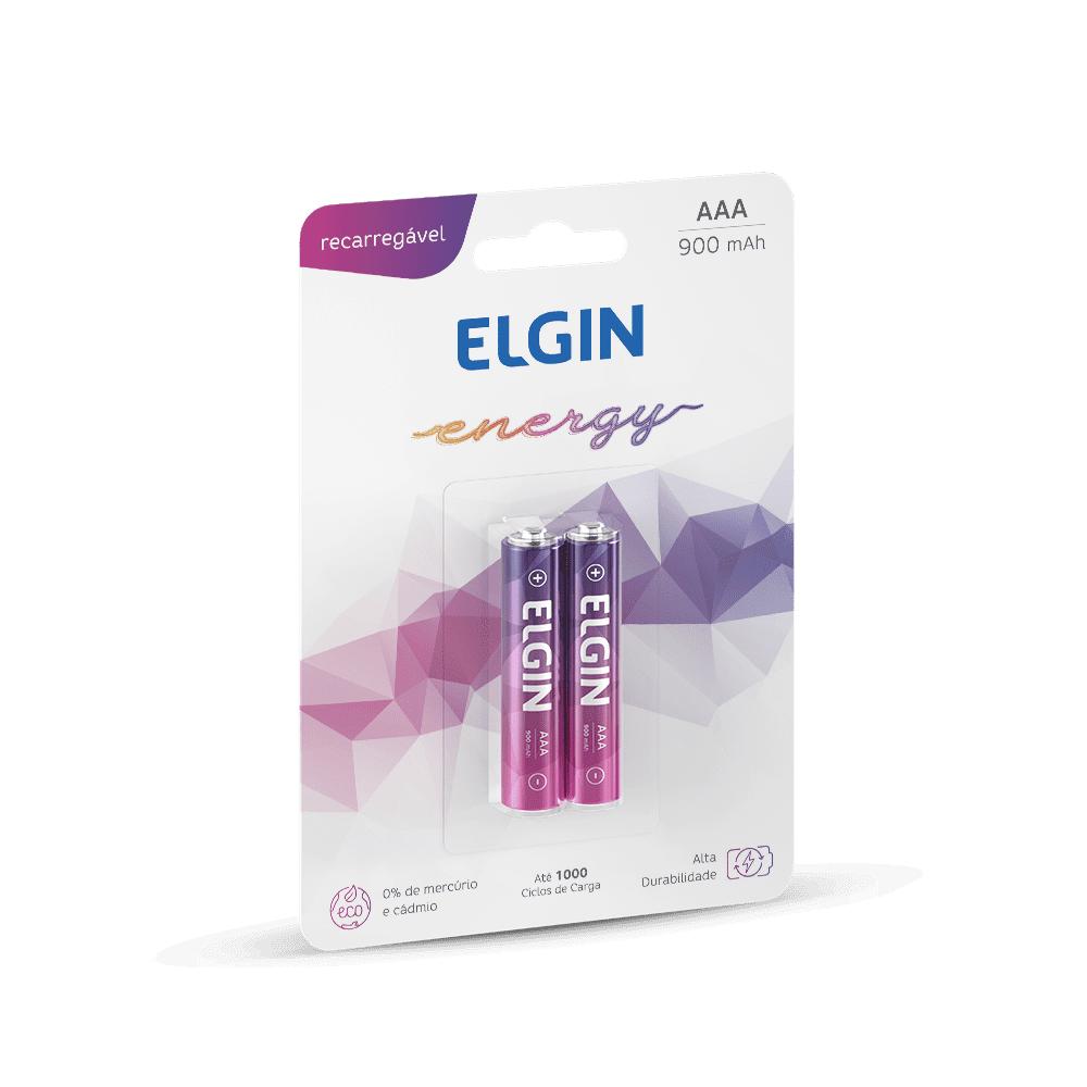 Pilha Recarregável AAA 900 mAh 2 und Elgin