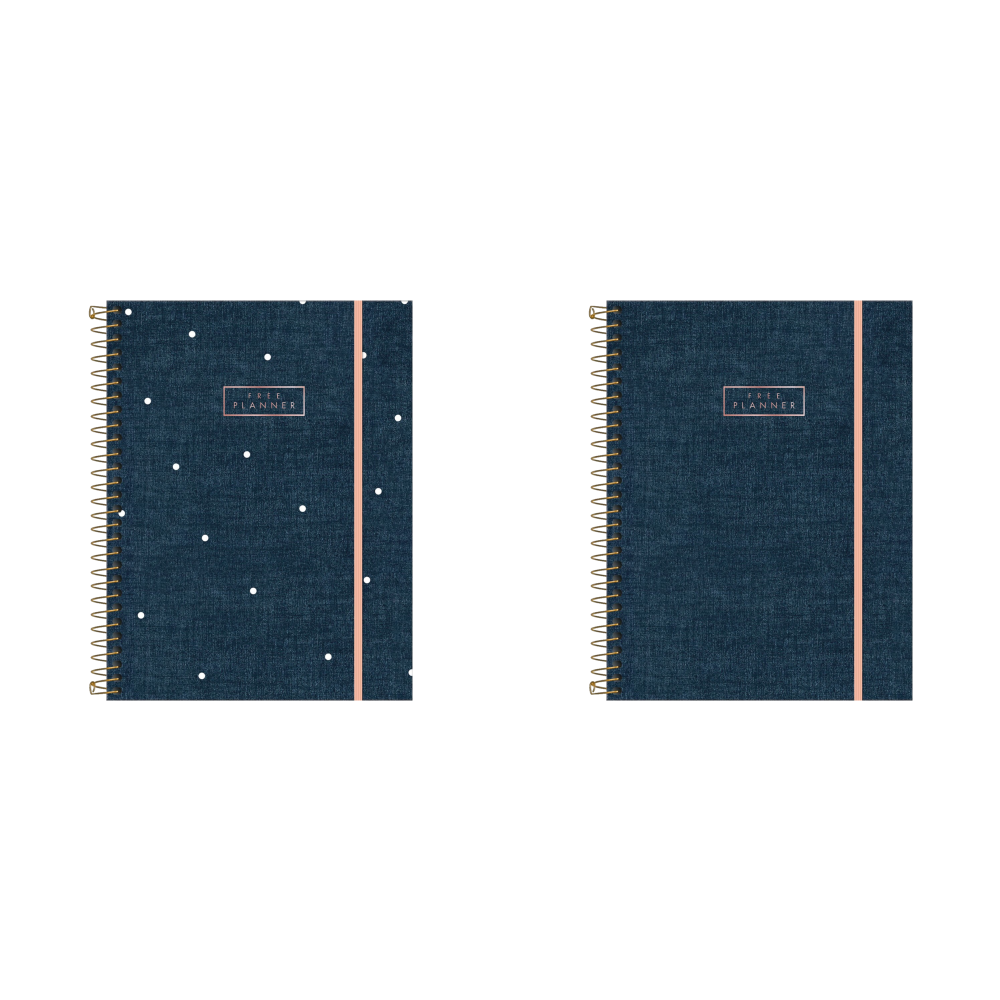 Planner Espiral Cambridge Denim Permanente Tilibra