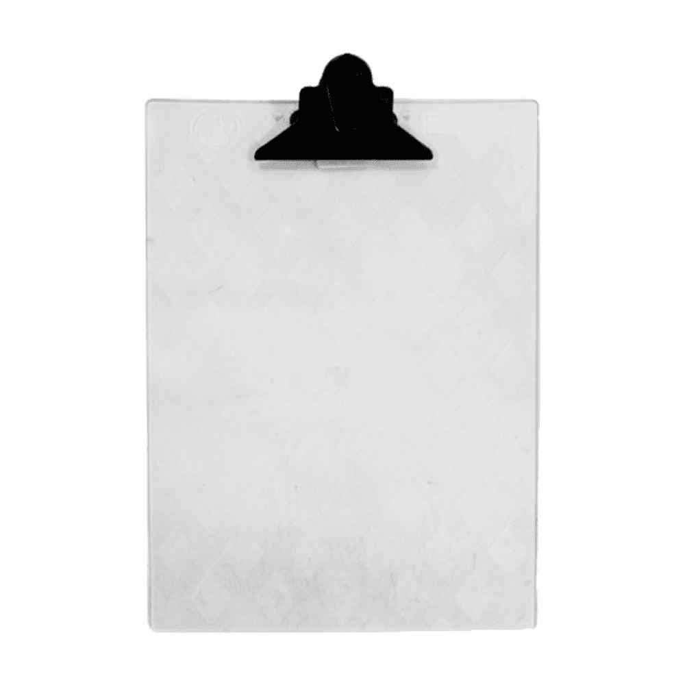 Prancheta Ofício Com Garra Plástica Cristal Eucatex Carbrink