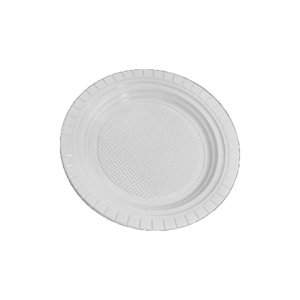Pratos Descartáveis PS 150mm Branco 10 und Copozan
