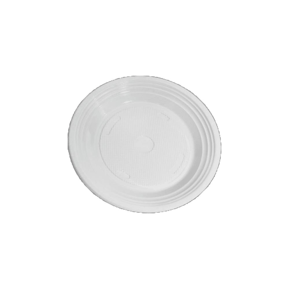 Pratos Descartáveis PS 180mm Branco 10 und Copozan