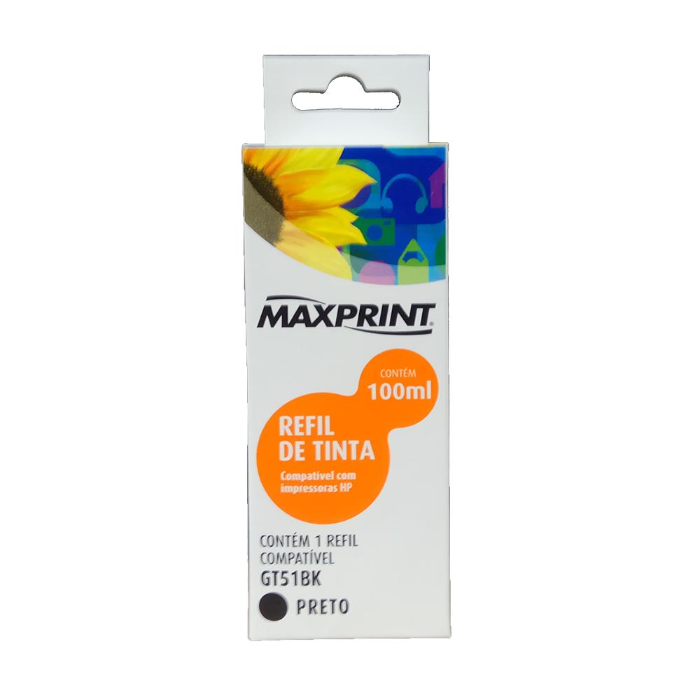 Refil de Tinta Compatível HP 51 100mL Preto Maxprint