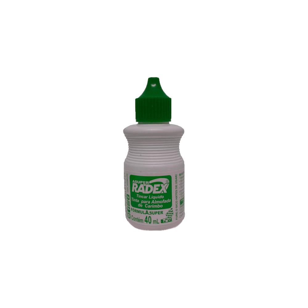 Refil de Tinta para Carimbo 40mL Verde Radex