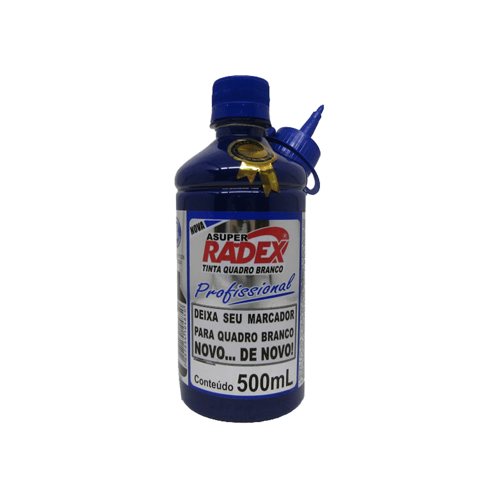 Refil de Tinta para Marcador de Quadro Branco 500mL Azul Radex