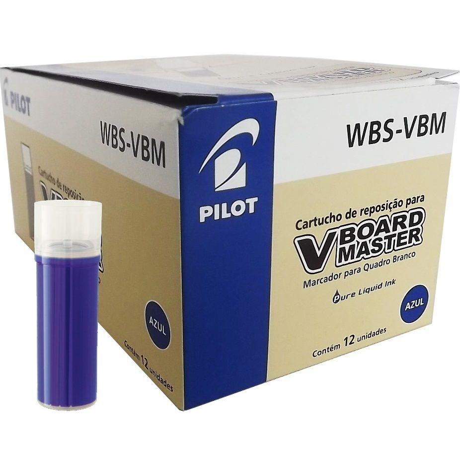 Refil para Marcador Quadro Branco WBS-VBM Azul Pilot