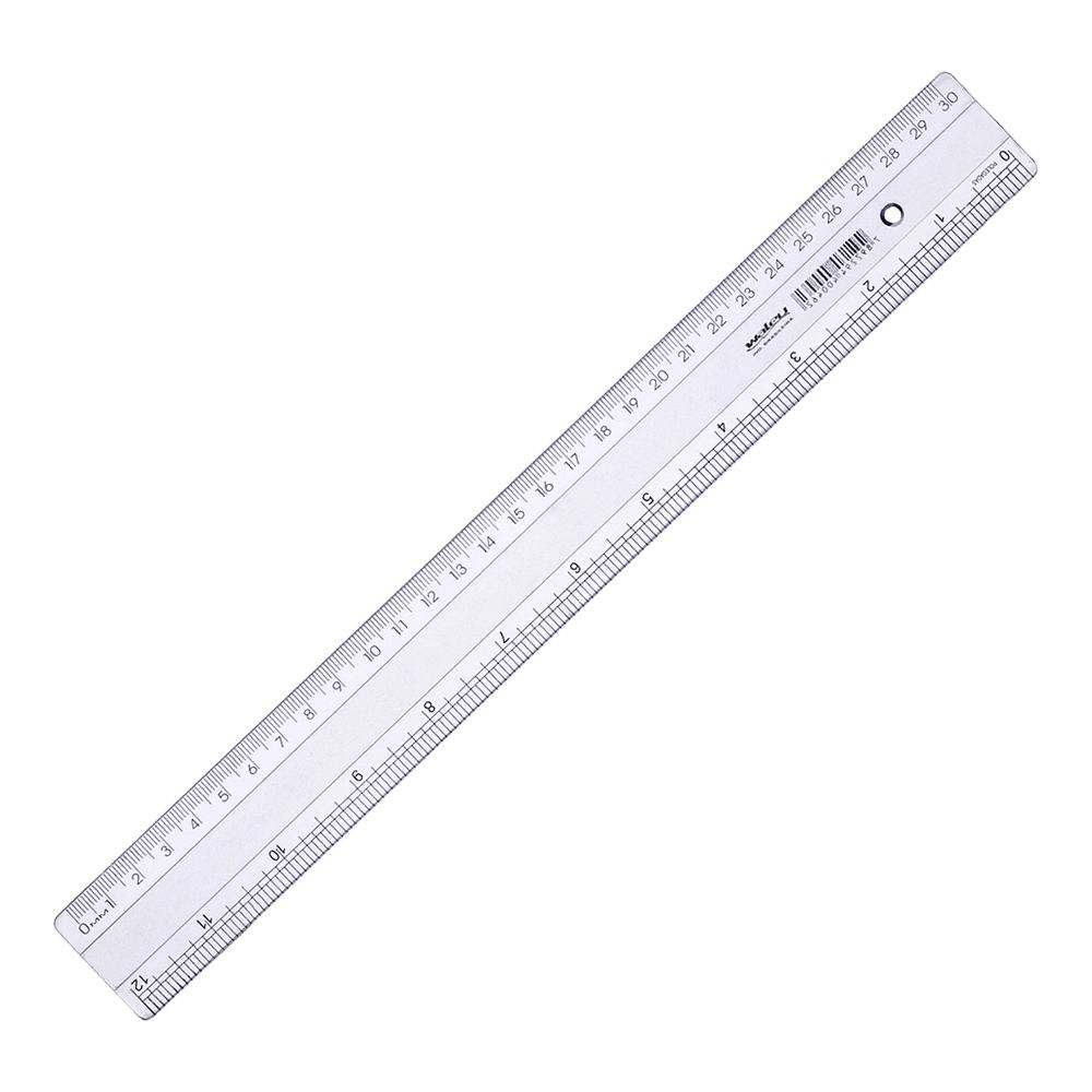 Régua de Plástico 30cm Super Waleu
