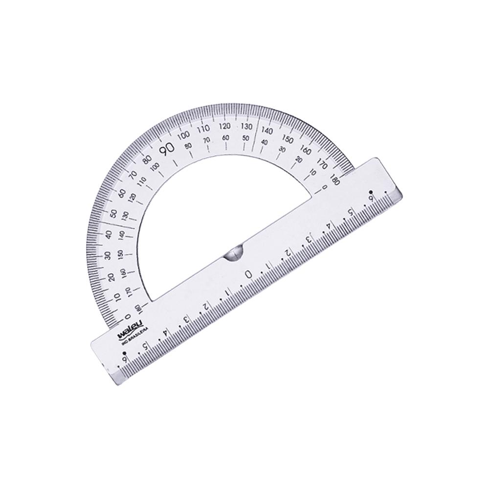 Transferidor Plástico 180° Waleu