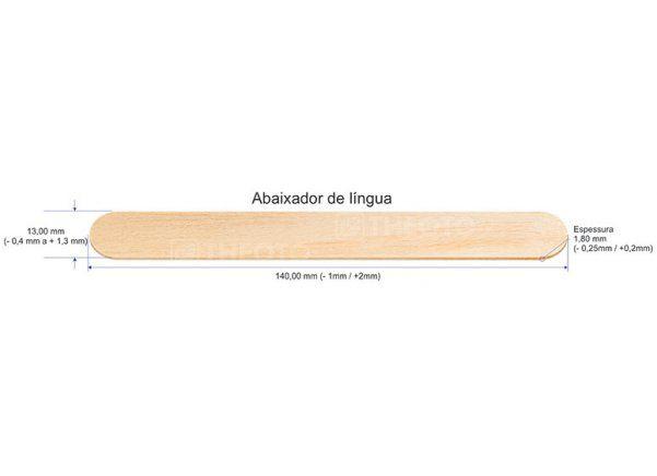 ABAIXADOR DE LINGUA MADEIRA THEOTO COM 100 UNIDADES