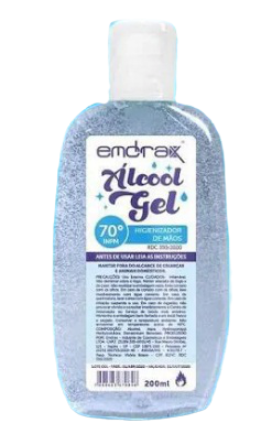ALCOOL EM GEL HIGIENIZADOR 70% - EMDRAX - 200ML