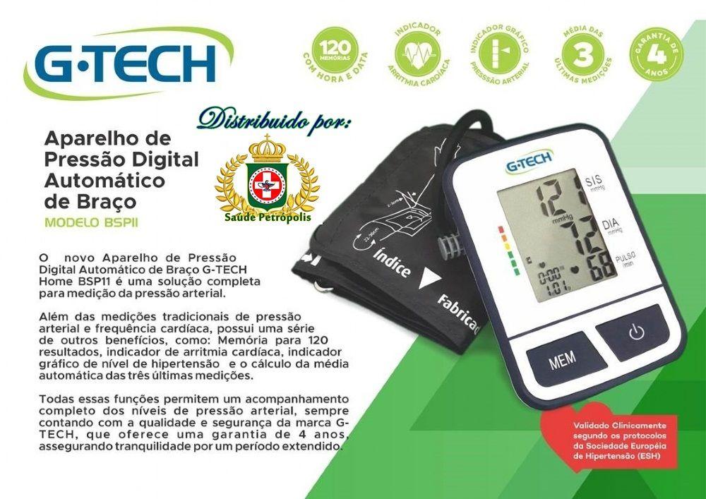 Aparelho de Pressão Digital de Braço BSP11 - G-Tech