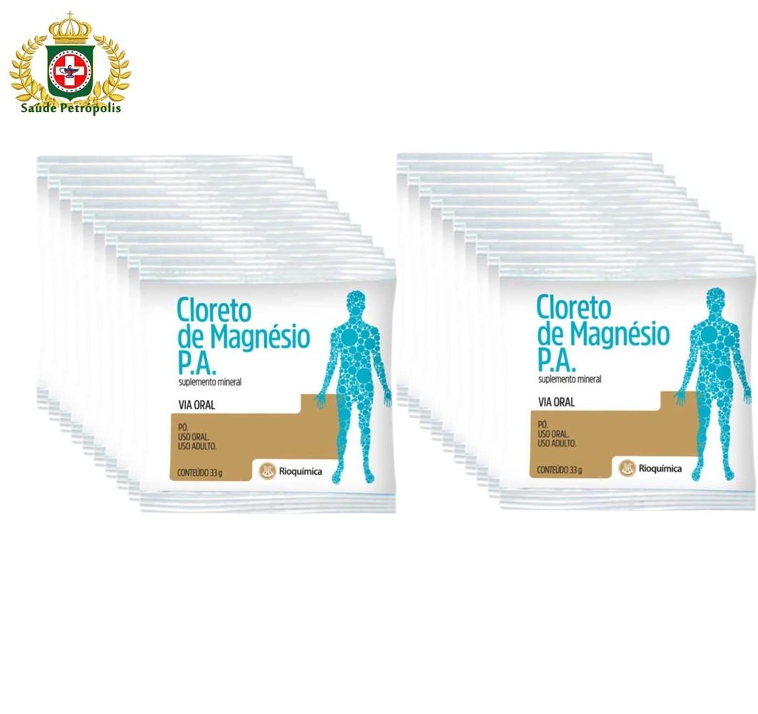 CLORETO DE MAGNESIO P.A. SACHE 33 G CAIXA COM 20 UND