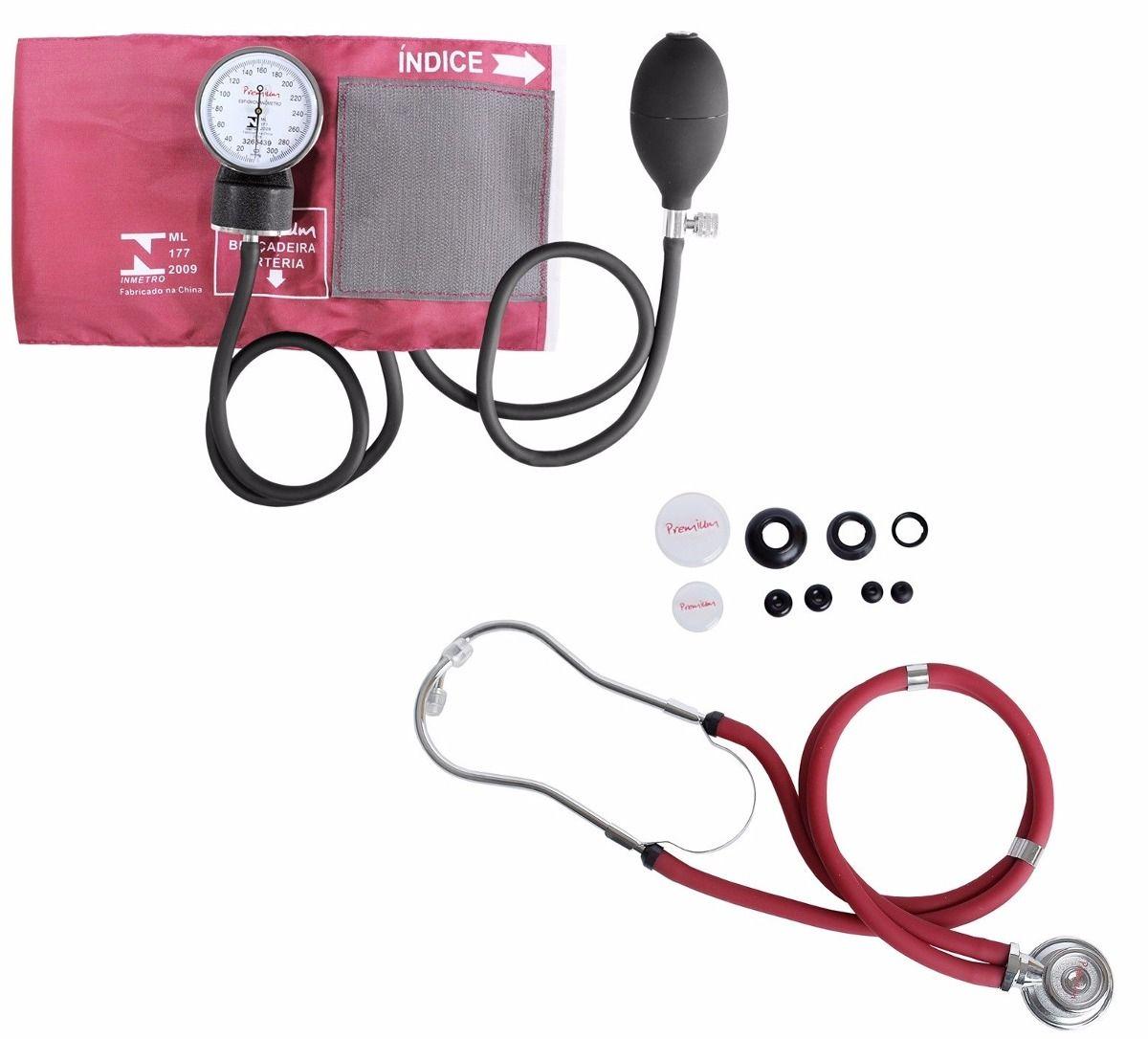 Kit Esfigmomanômetro + Estetoscopio Rappaport  Premium