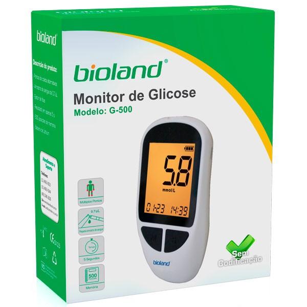 KIT MEDIDOR DE GLICOSE G-500 BIOLAND