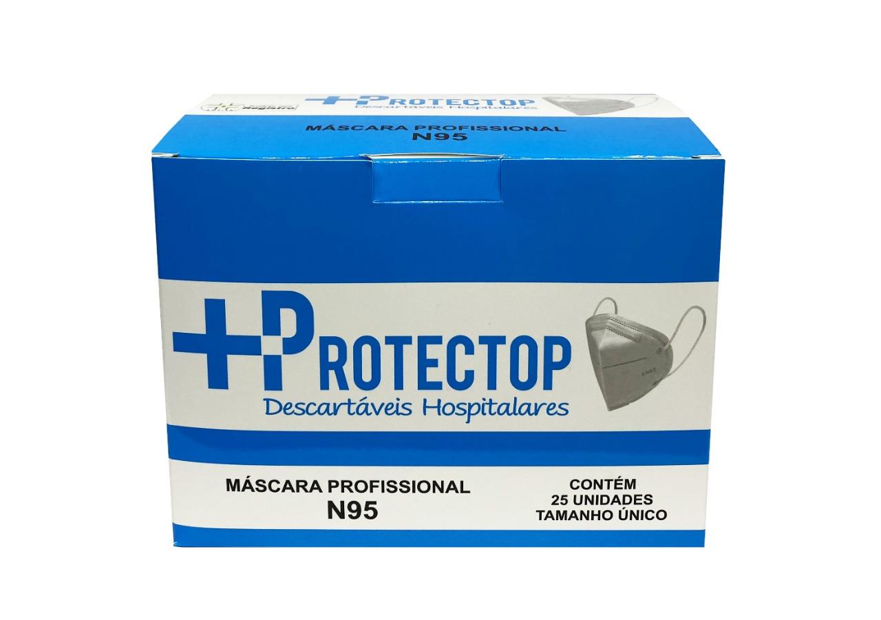 MASCARA DE PROTECAO PROFISSIONAL N95 COM 25 UNIDADES