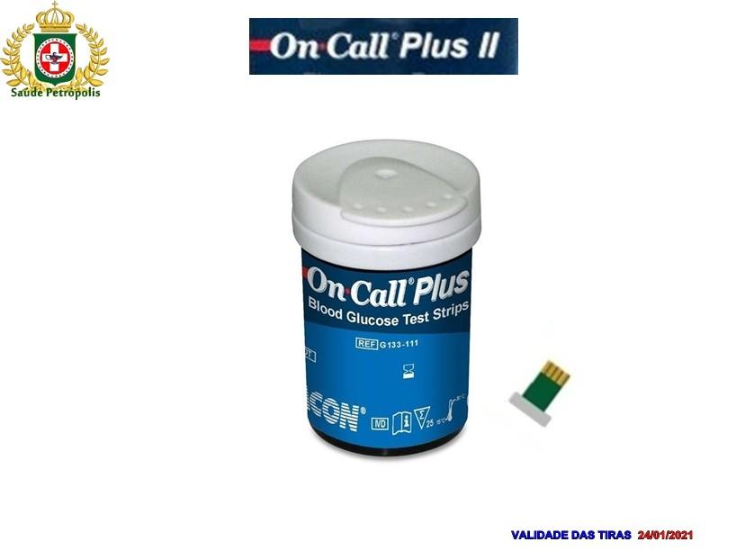 ON CALL PLUS II - 50 TIRAS REAGENTES
