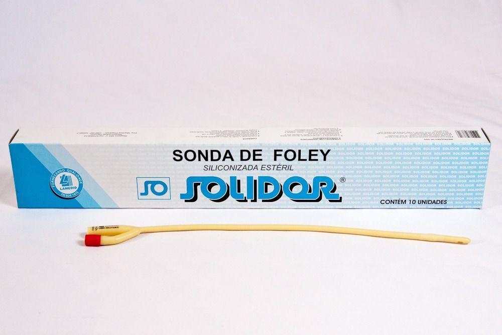 SONDA FOLEY 2 VIAS COM BALÃO CX COM 10 UND