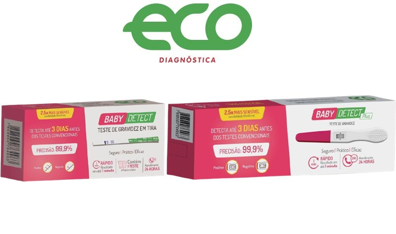 TESTE DE GRAVIDEZ DETECT ECO DIAGNOSTICA 99,9 % PRECISAO