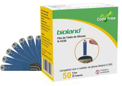 TIRAS PARA MEDIÇÃO DE GLICOSE BIOLAND G- 423S C/ 50 TIRAS