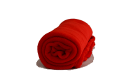 Cobertor Microfibra Bebê Liso Vermelho