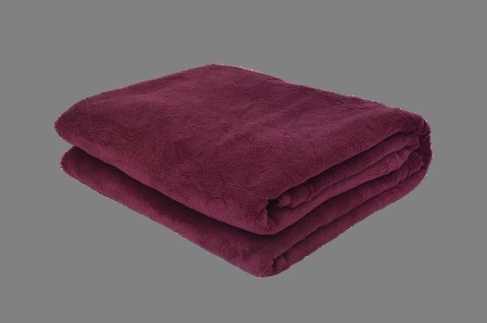 Cobertor Microfibra Plush Vinho