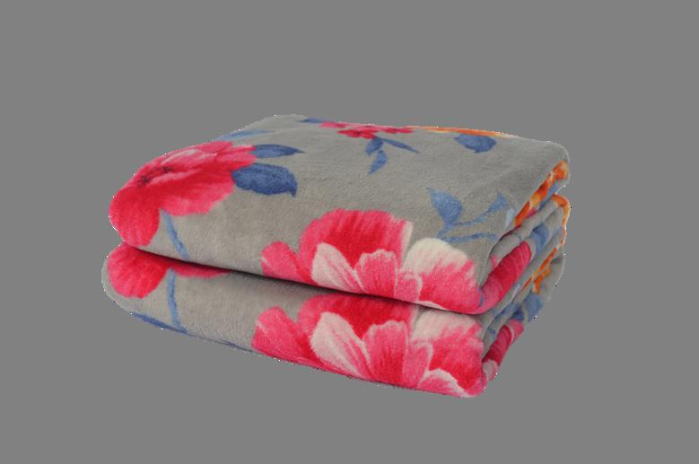 Cobertor Ultrasoft Floral Begônias