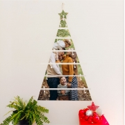 Árvore de NATAL De Plaquinhas Personalizada com  FOTO mosaico