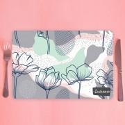 Jogo Americano Personalizado - Floral ilustração orgânica
