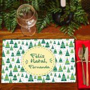 Jogo Americano Personalizado Natal - Árvores