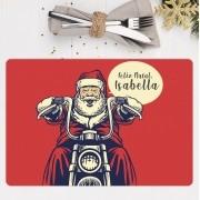 Jogo Americano Personalizado Natal - Papai Noel Moto