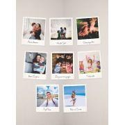 Kit de 08 Quadrinhos Estilo Polaroid