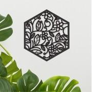 Quadro Decorativo em Recorte - Floral 02