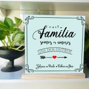 quadro personalizado decorativo - quadro para sala -Amores uns dos outros