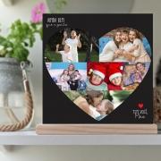 Quadro Personalizado- coração com foto - ainda bem que a gente tem você