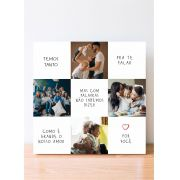 Quadro Personalizado - Como é Grande Nosso Amor por Você - Fotos