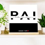 Quadro Personalizado Família - Dia dos Pais - pai com nomes