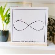 Quadro Personalizado Frase Família - Amor Infinito
