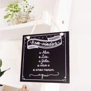 Quadro Personalizado Frase Família - Bem Vindos