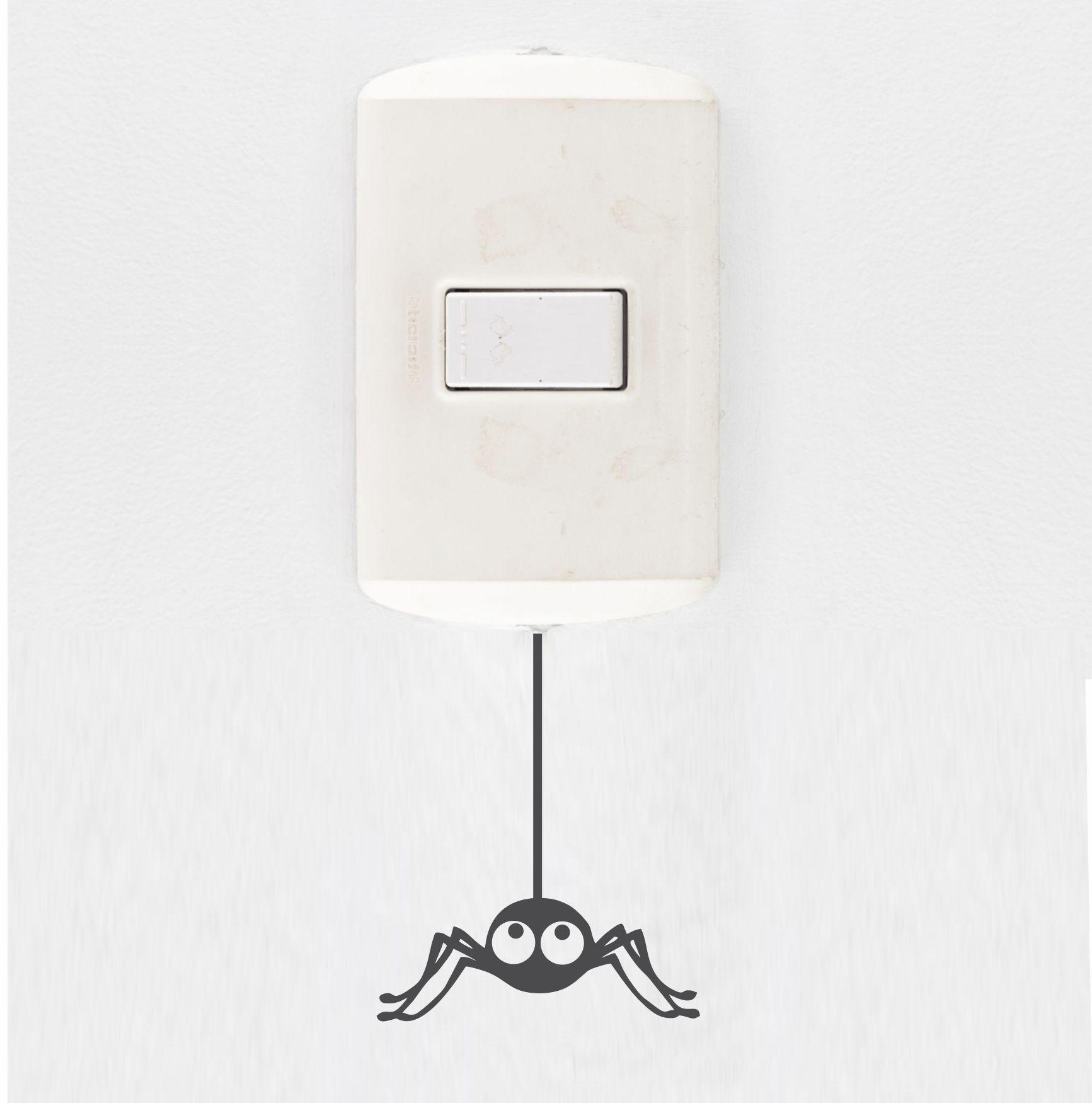 Adesivo de Interruptor e Tomada - Aranha