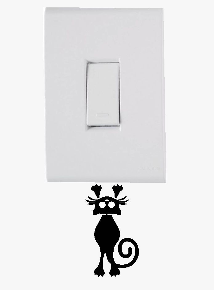 Adesivo de Interruptor e Tomada - Gato