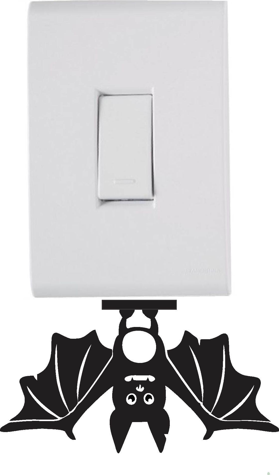 Adesivo de Interruptor e Tomada - Morcego