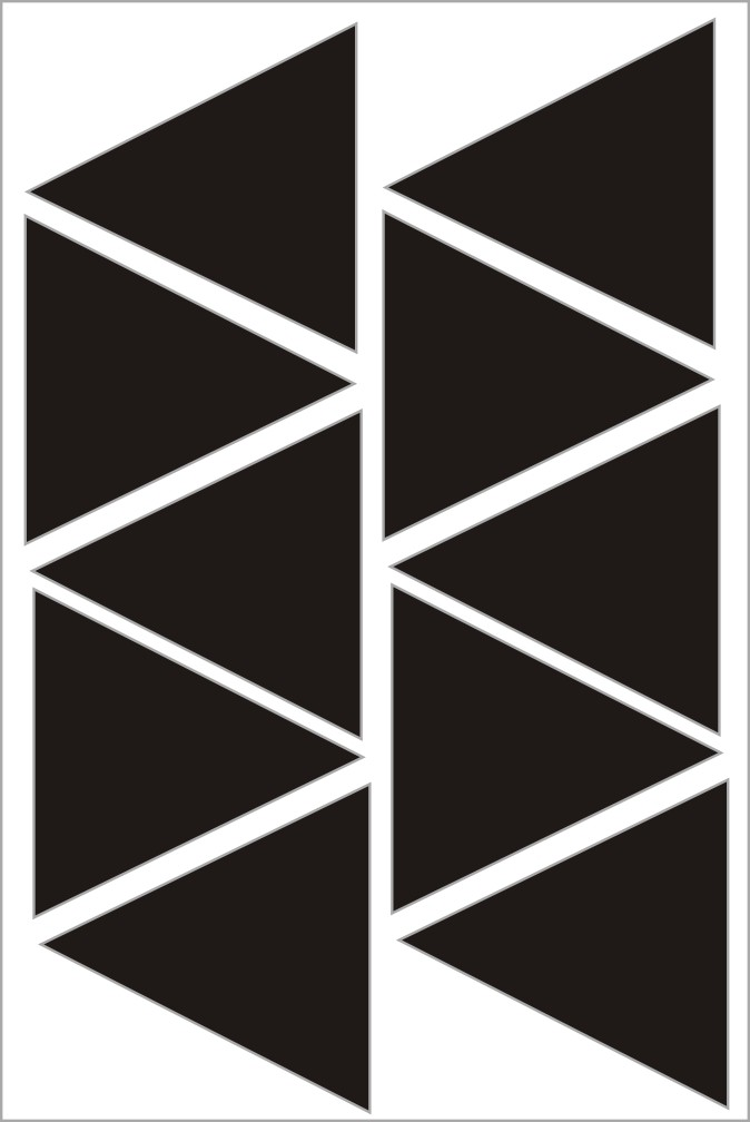 Adesivo de Parede Triangulos FRETE GRATIS