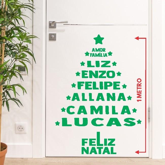 Adesivo de Parede Personalizado Árvore de NATAL