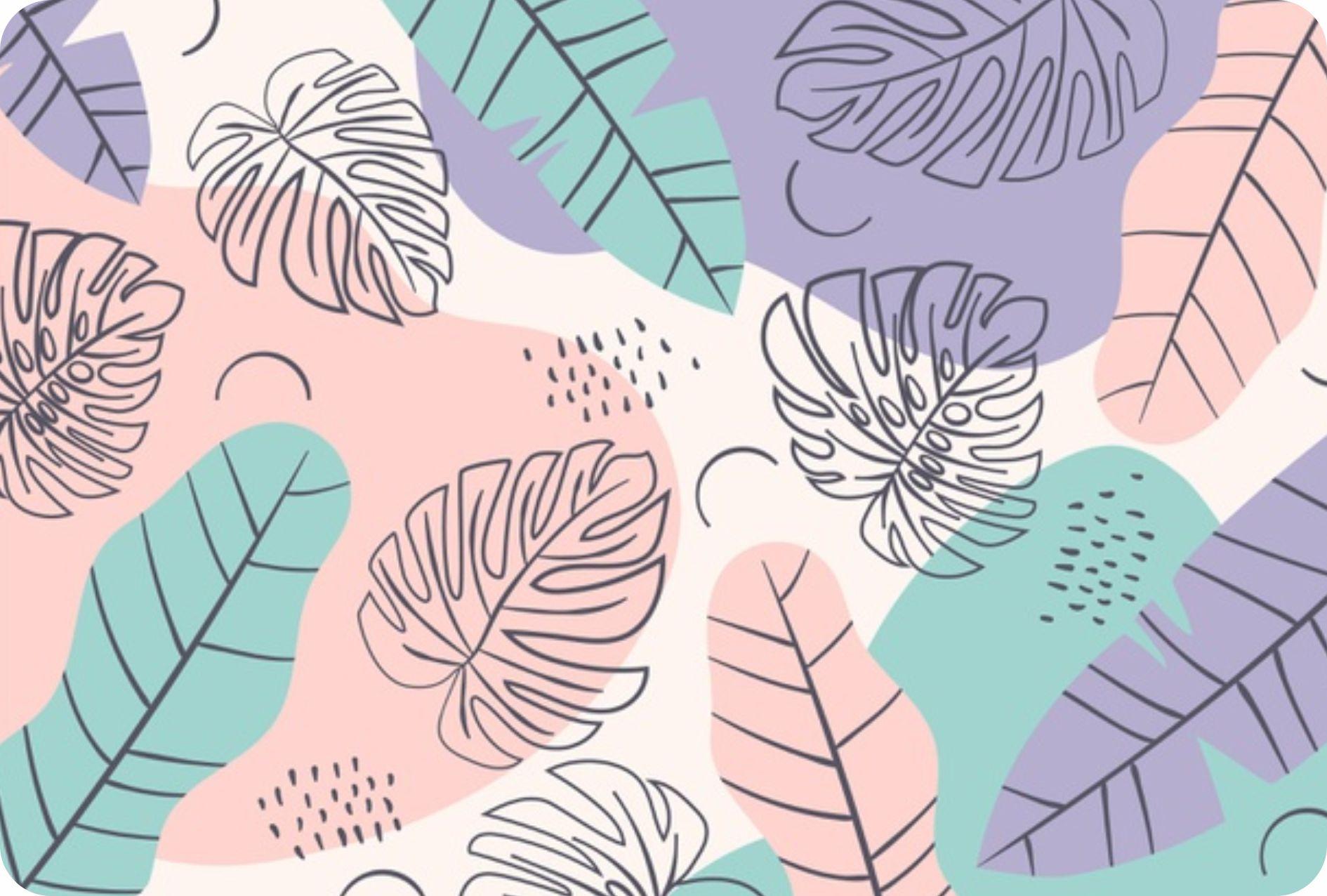 Jogo Americano Personalizado - Floral ilustração orgânica rosa