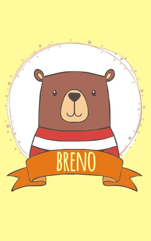 Mini Placa de Madeira Personalizada -Urso Baby