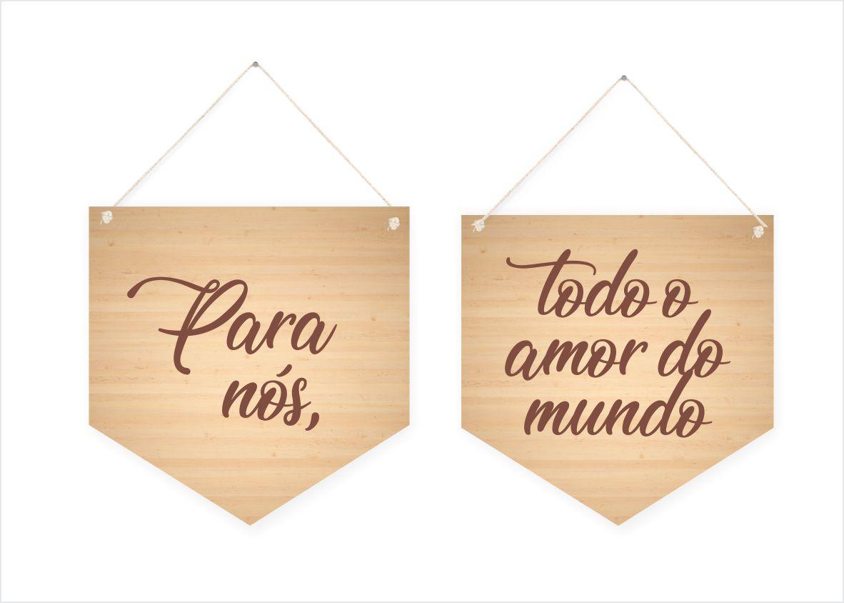 """Dupla de Quadros """"Para Nós, todo o Amor do Mundo"""""""