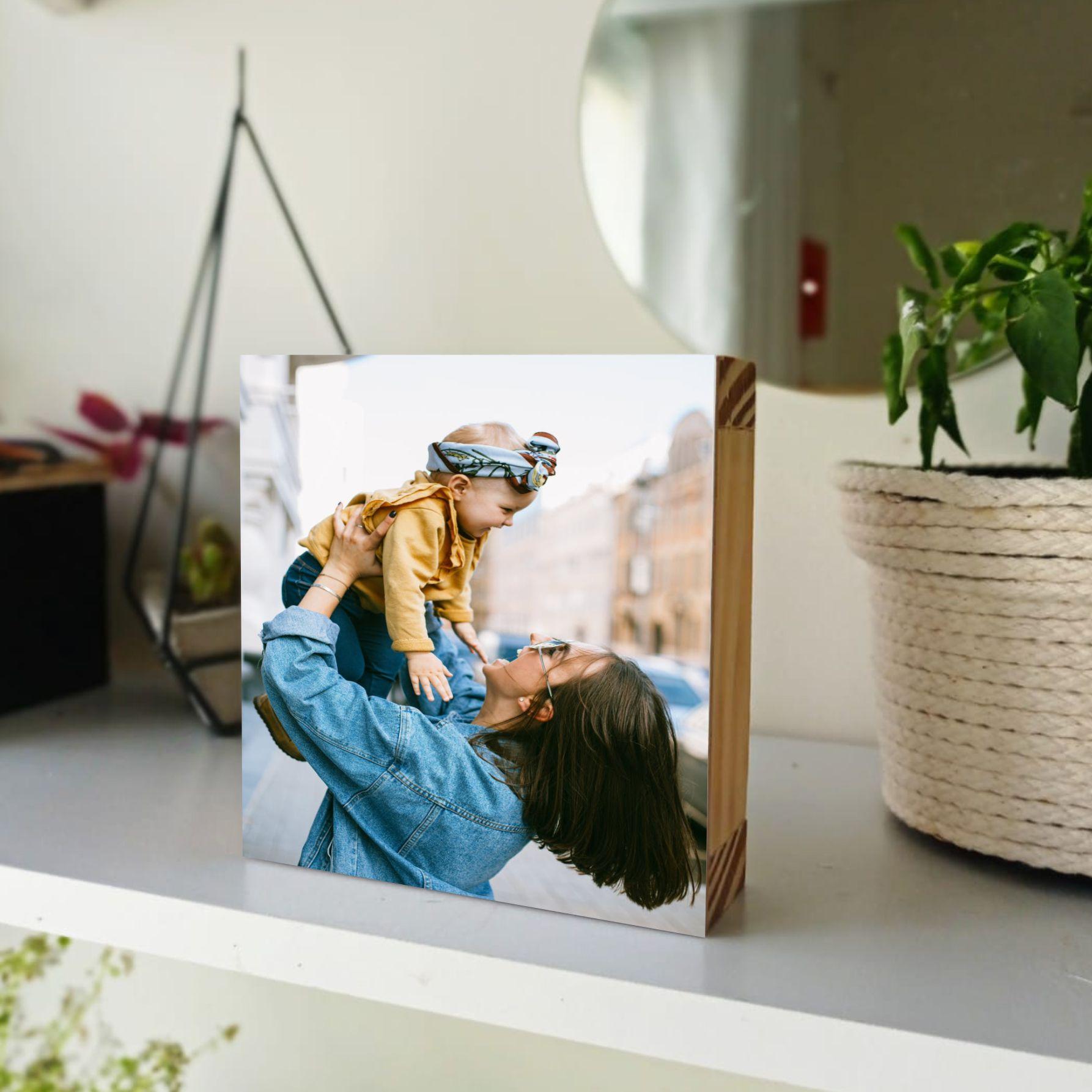 Enfeite de mesa cubo com foto
