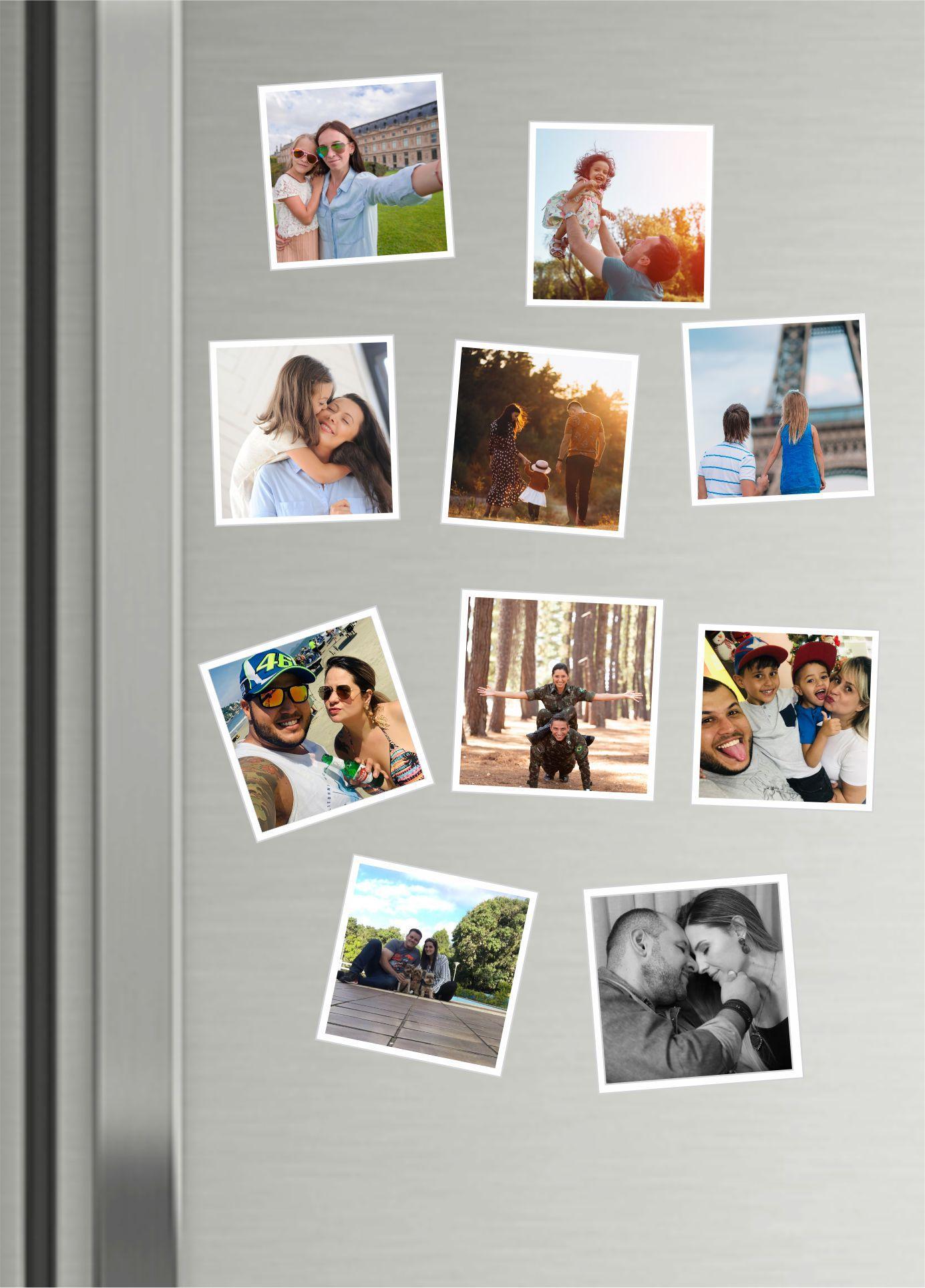 Imãs de Geladeira Personalizados com Foto - Kit com 10 Unidades E FRETE GRÁTIS