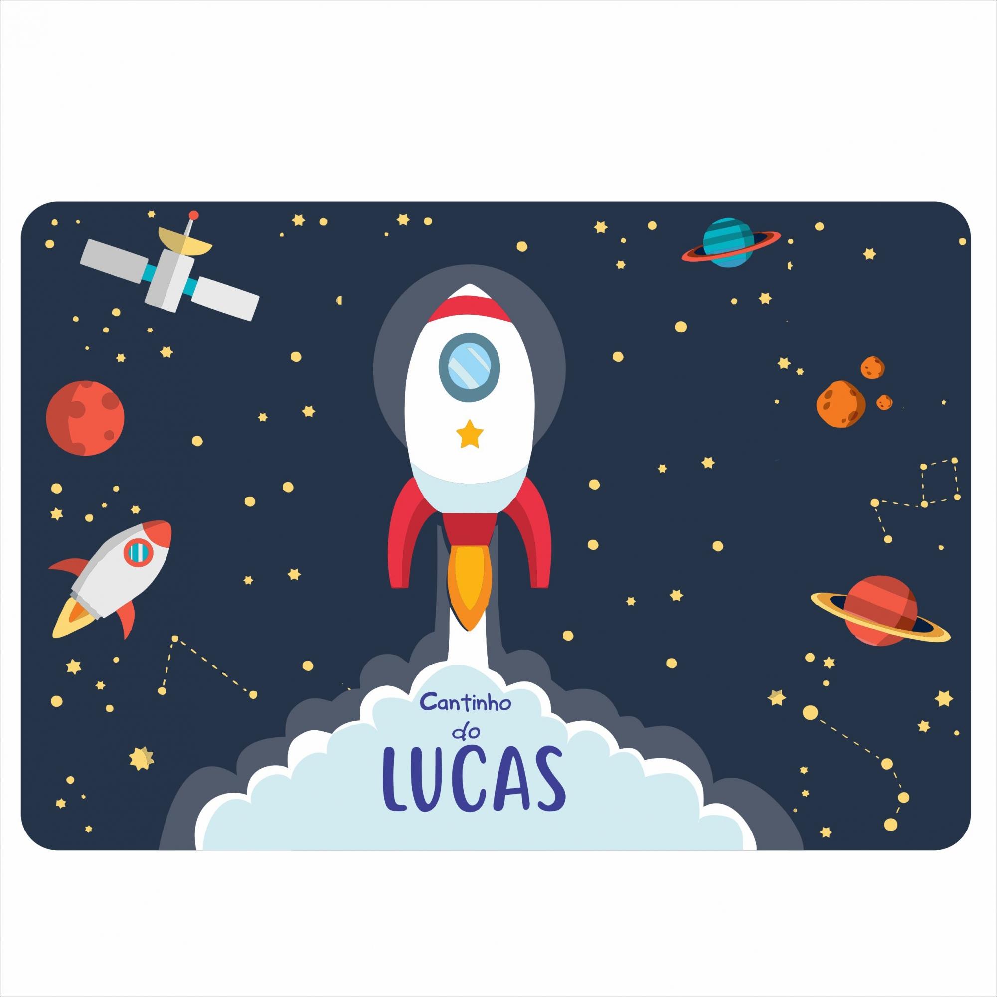 Jogo Americano Personalizado - Astronauta Espaço